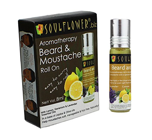 5 Amazing Beard Care Oil Products of 2017 at Great Prices! - Soulflower Aromatherapy Beard and Moustache Roll On, 8ml Amazon Deal