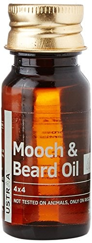5 Amazing Beard Care Oil Products of 2017 at Great Prices! - Ustraa Mooch and Beard Oil 4x4 - 35 ml Amazon Deal