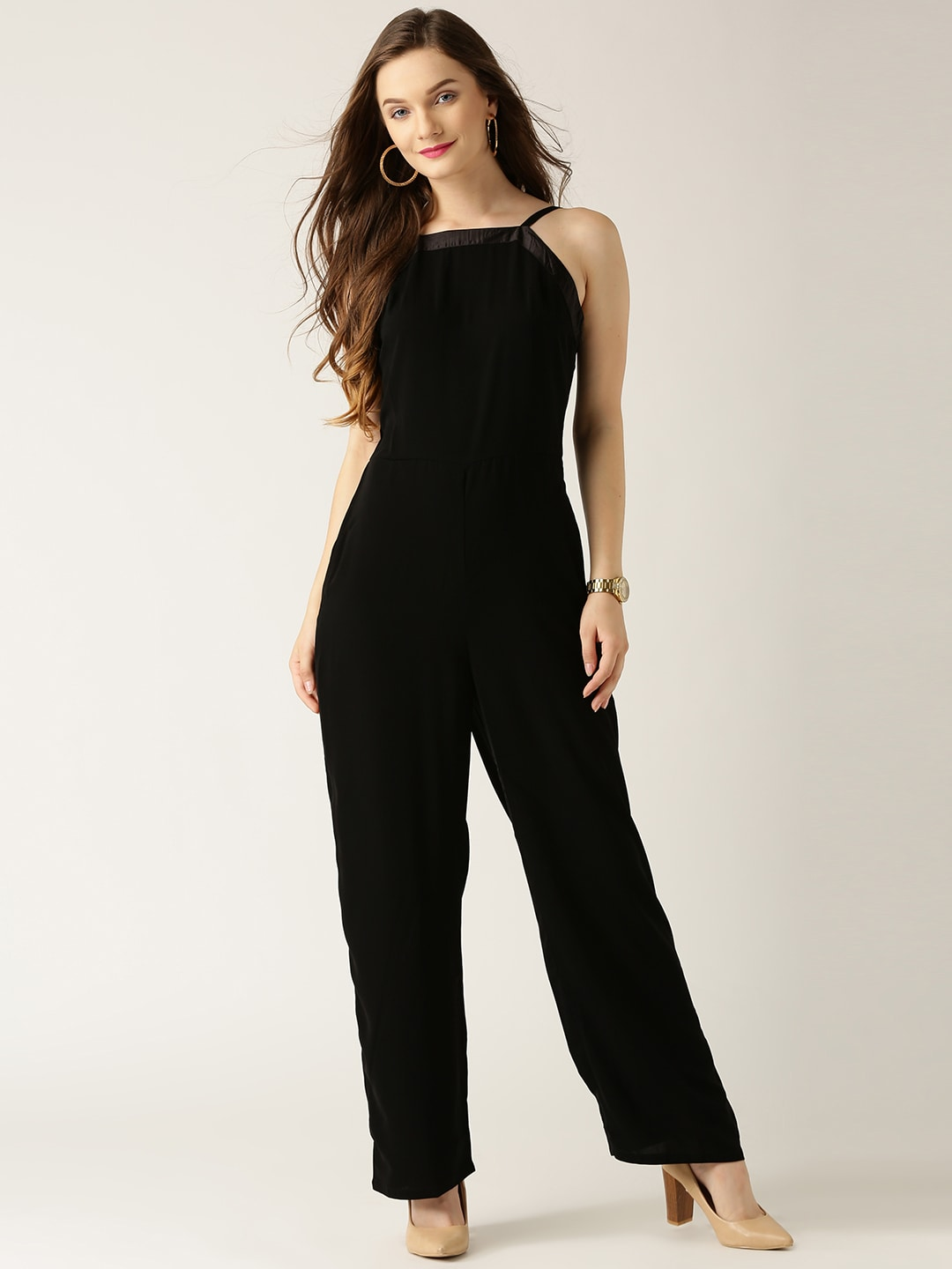 Marie Claire Black Jumpsuit Myntra Rs. 1919