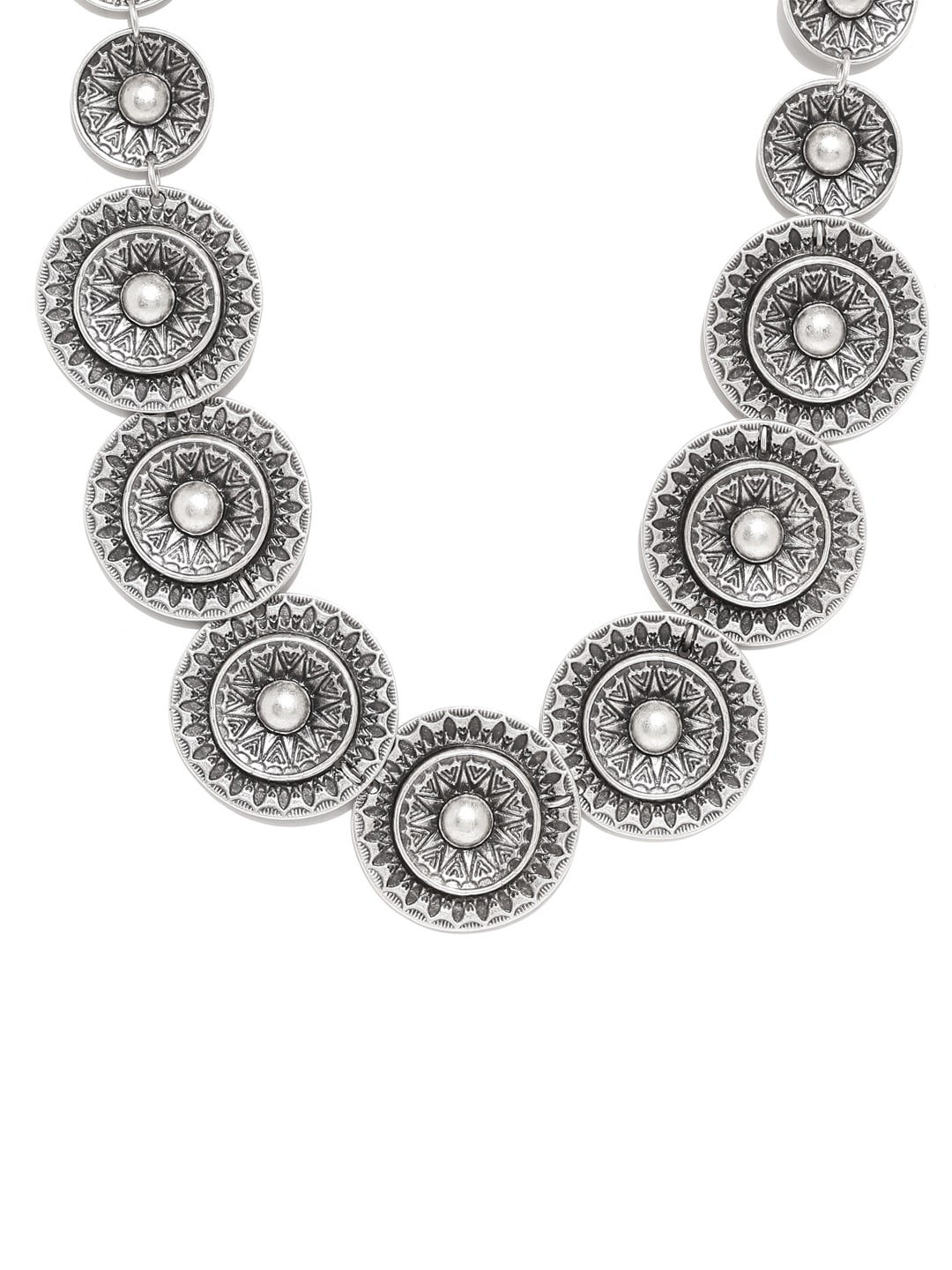 Thingalicious Oxidised Silver Plated Necklace Myntra Rs. 2550