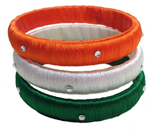 Celebrate Independence Day in Style this Year - Silk Thread Bangle - TRI COLOUR Amazon Deal