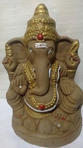 Switch to Eco Friendly Ganesh Idols for This Ganesh Chaturthi 2017 - Ecofriendly Ganesh Clay Idol 30Cm Amazon Deal