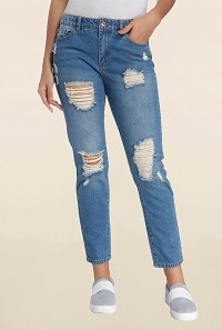 Fond Of Ripped-Distressed Jeans, Know Places To Shop Uber-Ripped Jeans - Ripped denims for Women at 70% TATA CLiQ Deal