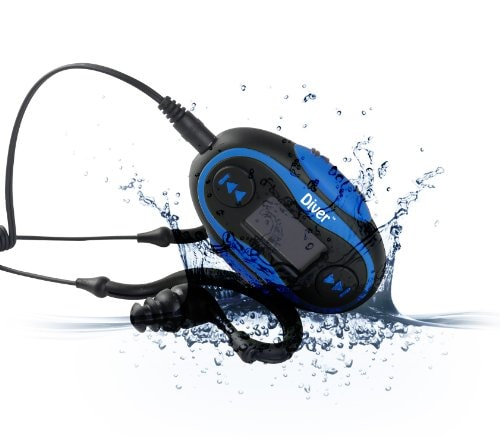Waterproof Headphones With Music Players For Swimmers, Athletes, Joggers! - Diver 4GB Waterproof MP3 Player with LCD Display and Earphones Amazon Deal