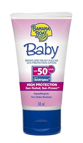 BANANA BOAT Water Resistant- Tear Free Sunscreen Lotion For Baby with SPF 50+ Amazon Deal