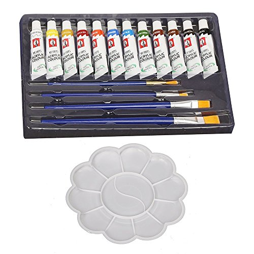DIY Gifting Ideas for Teachers' Day, Gift Ideas for Students of All Age Groups. Happy Teachers' Day! - Kurtzy 12 Color Acrylic Paint Studio Set Amazon Deal