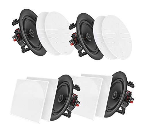 """Top 5 Best Bluetooth Ceiling Speakers for Home, Shop, Restaurant and More - Pyle (4) 5.25"""" BLUETOOTH CEILING / WALL SPEAK PDICBT256 Amazon Deal"""