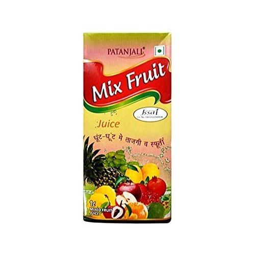 Top 10 Popular Patanjali Products That Promise to Change Your Life, List of the Must Buy Patanjali Products - Patanjali Mix Fruit Juice Tetra Pack, 1L Amazon Deal