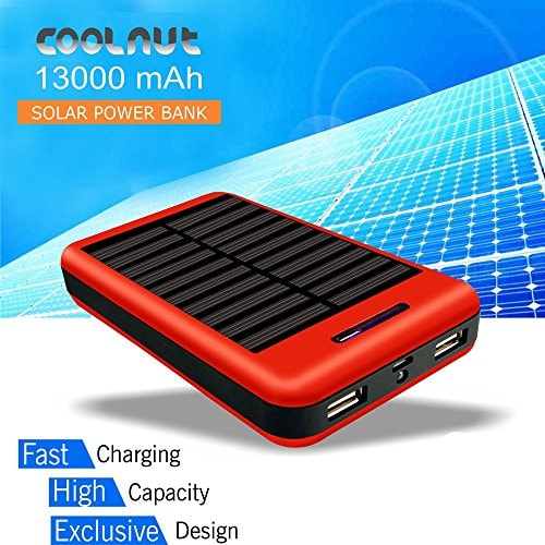 Gadget Innovations You Did Not Know Even Existed! These are the Coolest Innovations Leading to an Awesome Future. - COOLNUT Solar Power Bank 13000mAh,Solar Charger for Mobile Phones Amazon Deal
