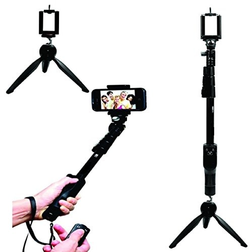 Unifree YT 1288 2 In 1 Adjustable Selfie Stick with Bluetooth Remote Shutter Amazon Deal