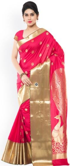 10 Types of Best Traditional Sarees, Adorn Your Wardrobe This Diwali 2017 - Up to 80% Off on Traditional Kanjeevaram Saree Myntra Deal
