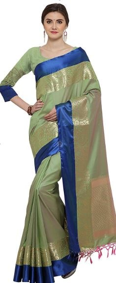 10 Types of Best Traditional Sarees, Adorn Your Wardrobe This Diwali 2017 - Up to 70% Off on Traditional Kanjeevaram Saree Amazon Deal