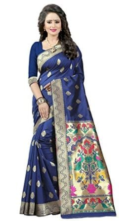 10 Types of Best Traditional Sarees, Adorn Your Wardrobe This Diwali 2017 - Up to 70% Off on Tussar Sarees Amazon Deal