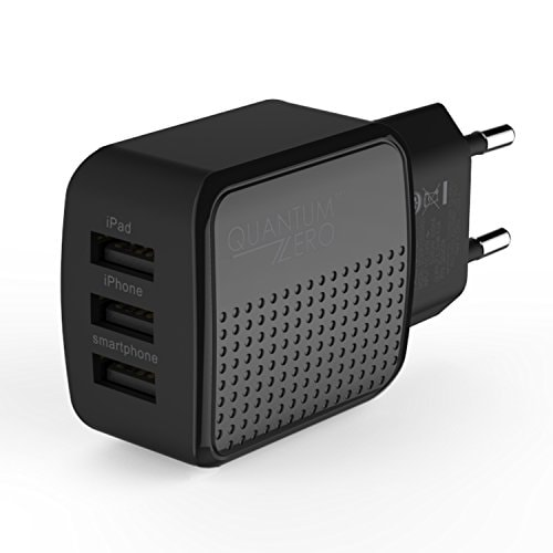 QuantumZERO QZWC08 4A 3-port USB Wall Charger with AmpereQ Technology Amazon Deal