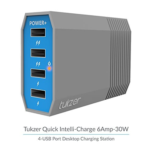 Tukzer Quick Charge 6A 30W 4-Ports USB Desktop Charging Station Home Wall Charger, Hub Amazon Deal