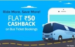 Diwali Special Offers: Amazing Paytm Travel Offers on Flights, Bus and Hotel - Flat Rs. 50 Cashback on Bus Ticket Bookings Paytm Deal