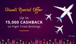 Diwali Special Offers: Amazing Paytm Travel Offers on Flights, Bus and Hotel - Up to Rs. 5000 Cashback on Flight Ticket Bookings Paytm Deal