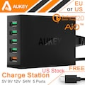 Aukey Quick Charger 2.0 54W 5 Port Micro USB Desktop Charger Ali Express Rs. 1331.95