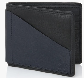 cad9f97e68ee Best Wallet for Men in India - United Colors of Benetton Navy Blue Front  Pocket Leather