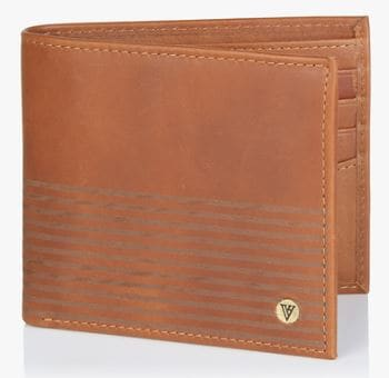 d061d4441eeb Best Wallet for Men in India - Van Heusen Tan Leather Wallet Jabong Deal