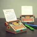 DIY CALENDER - TYPEWRITER COLORFUL Propshop24 deals