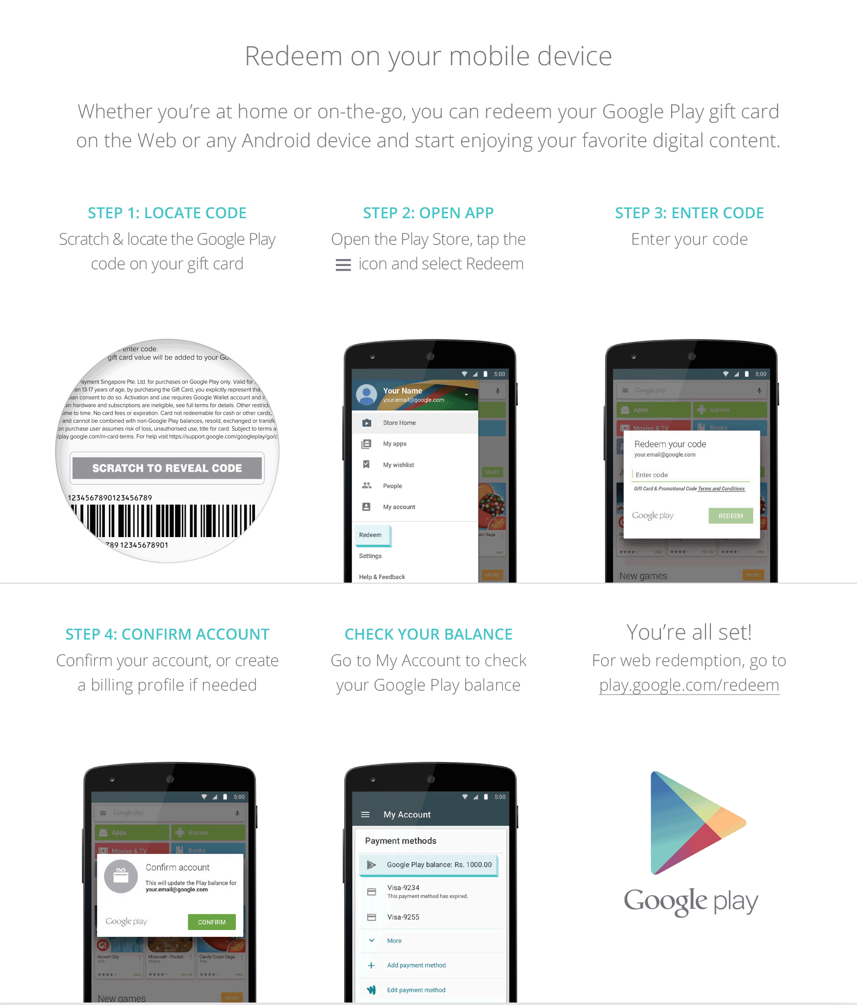 how to buy google play gift card online